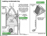 1239 Leaking Condensate Tray - Air Conditioning - Condensate System