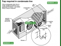 1241 Trap Required in Condensate Line - Air Conditioning - Condensate System