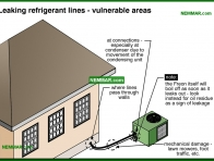 1251-co Leaking refrigerant lines - vulnerable areas - Refrigerant Lines - Air Condtioning - Air Conditioning and Heat Pumps