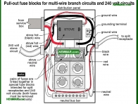 0581-co Pull out fuse blocks for multi wire branch circuits and 240 volt circuits - Distribution Panels - Electrical