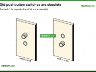 0625-co Old push button switches are obsolete - Lights Outlets Switches Junction Boxes - The Distribution System - Electrical