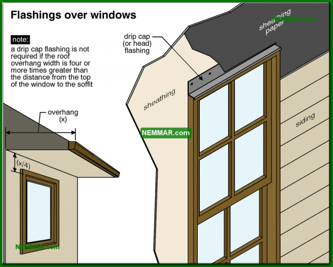 1830-co Flashings over windows - Trim and Flashings and Caulking - Exterior Cladding - Exterior