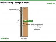 1800-co Vertical siding - butt joint detail - Wood - Exterior Cladding - Exterior
