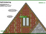1711-co Half timbering - Building Shapes and Details - Architectural Styles - Exterior