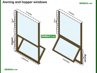 1716-co Awning and hopper windows - Windows - Architectural Styles - Exterior