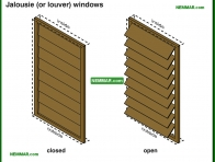 1717-co Jalousie or louver windows - Windows - Architectural Styles - Exterior