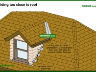 1750-co Siding too close to roof - Wall Surfaces - General - Exterior Cladding - Exterior