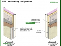 1787-co EIFS - ideal caulking configurations - Stucco - Exterior Cladding - Exterior