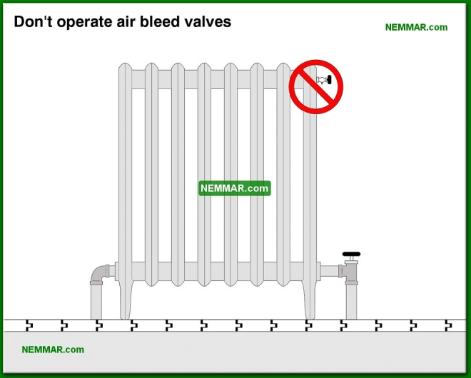 0869-co Do not operate air bleed valves - Controls - Hot Water Boilers - Heating