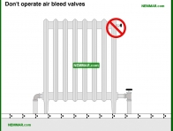 0902-co Do not operate air bleed valves - Distribution Systems - Hot Water Boilers - Heating