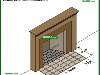 1070-co Hearth extension dimensions - Wood Burning Fireplaces - Wood Heating Systems - Heating