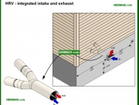 1358-co HRV - integrated intake and exhaust - Venting Living Spaces - Insulation - Insulation