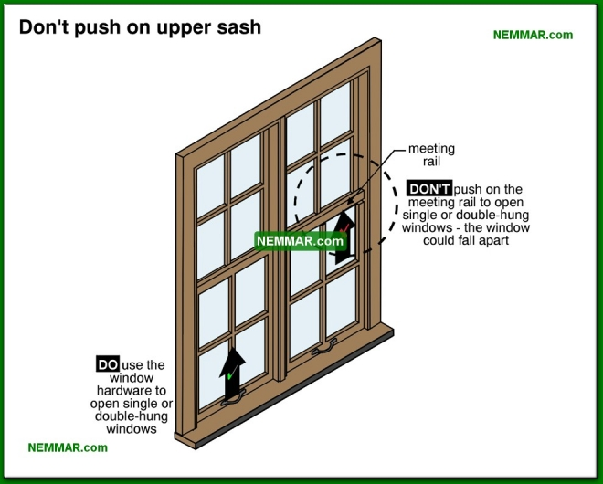 2059-co Do not push on upper sash - Windows and Skylights and Solariums - Interiors - Interior