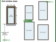 2061-co Exit window sizes - Windows and Skylights and Solariums - Interiors - Interior