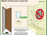 1686-co Windows over bathtubs are not a good idea - Tub and Shower Stall Enclosures - Fixtures and Faucets - Plumbing