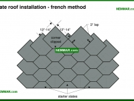 0035-co Slate roof installation - french method - Slate - Steep Roofing - Roofing
