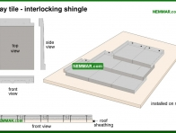 0042-co Clay tile - interlocking shingle - Clay - Steep Roofing - Roofing