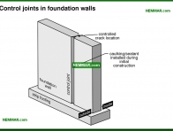 0217-co Control joints in foundation walls - Description - Footings and Foundations - Structure