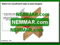 0310-co Watch for insufficient nails in joist hangers - Beams - Floors - Structure