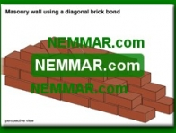 0355-co Masonry wall using a diagonal brick bond - Solid Masonry Walls - Wall Systems - Structure