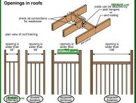 0445-co Openings in roofs - Rafters and Roof Joists and Ceiling Joists - Roof Framing - Structure