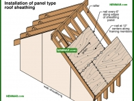 0460-co Installation of panel type roof sheathing - Sheathing - Roof Framing - Structure