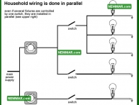 0511 Household Wiring is Done in Parallel - Electrical Electricity - Service Electricity
