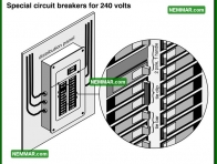 0560 Special Circuit Breakers for 240 Volts - Electrical Electricity - Distribution Panels