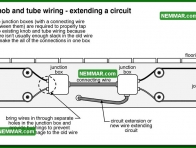 0602 Knob and Tube Wiring Connecting a New Branch Circuit - Electrical Electricity