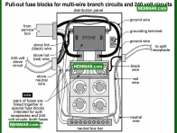 0581 Pull Out Fuse Blocks Multi Wire Circuits 240 Volt Circuits - Electrical Electricity