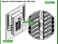 0582 Special Circuit Breakers for 240 Volts - Electrical Electricity - Distribution Panels