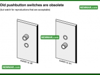 0623 Old Push Button Switches are Obsolete - Electrical Electricity - Lights Outlets