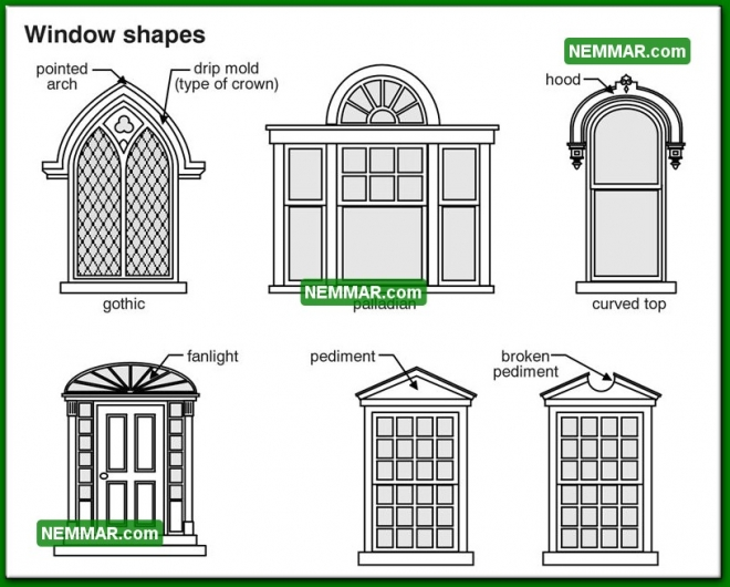 1719 Window Shapes - House Exterior - Windows