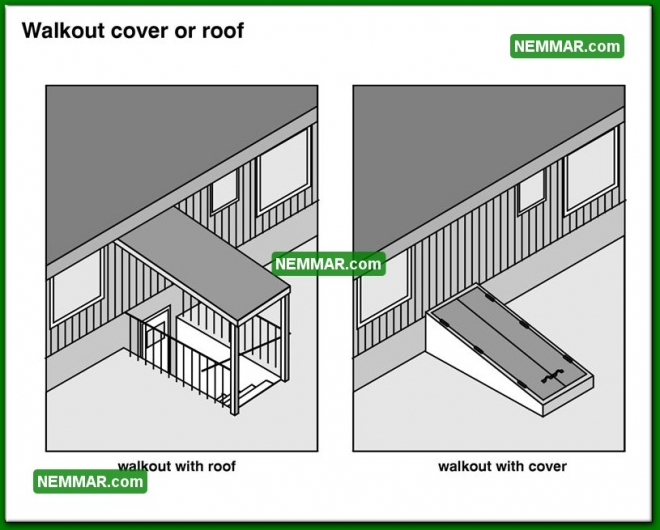 1879 Walkout Cover or Roof - House Exterior - Basement Walkouts