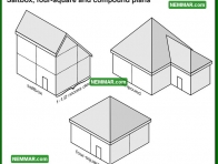 1701 Saltbox Four Square and Compound Plans - House Exterior - Architectural Styles