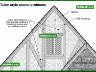 1772 Tudor Style Stucco Problems - House Exterior - Stucco