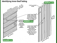 1799 Identifying Inner Seal  Siding - House Exterior - Plywood Hardboard and OSB