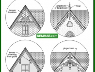 1706 Gable Details - House Exterior - Architectural Styles Building Shapes Details