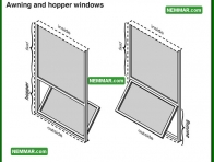 1716 Awning and Hopper Windows - House Exterior - Windows