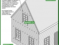 1752 Insulation Holes - House Exterior - Wall Surfaces General