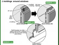1804 J Moldings Around Windows - House Exterior - Metal and Vinyl