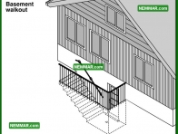 1826 Basement Walkout - House Exterior - Exterior Structures