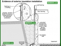 1884 Evidence of Exterior Insulation Installation - Surface Water Control Landscaping