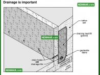 1935 Drainage is Important - House Exterior - Retaining Walls