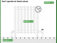 0864 Do Not Operate Air Bleed Valves - Heating - Controls
