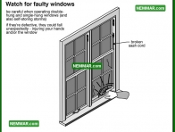 2054 Watch for Faulty Windows - House Interior - Windows Skylights and Solariums