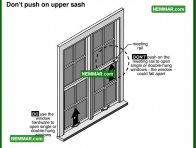 2055 Do Not Push on Upper Sash - House Interior - Windows Skylights and Solariums