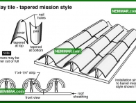 0039 Clay Tile Tapered Mission Style - Roofing - Clay