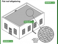0093 Flat Roof Alligatoring - Flat Roofing - Built up Roofing