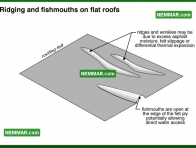 0095 Ridging and Fish Mouths on Flat Roofs - Flat Roofing - Built up Roofing